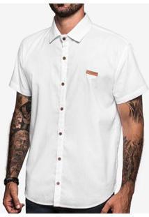 Camisa Hermoso Compadre Linho - Masculino-Branco