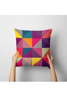 Capa De Almofada Avulsa Decorativa Geométricos Multicolors