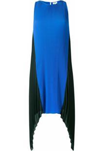 Kenzo Vestido Assimétrico - Azul