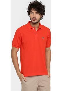 Camisa Polo Lacoste Piquet Original Fit Masculina - Masculino-Vermelho
