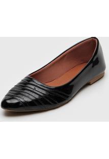 Sapatilha Dafiti Shoes Recortes Preta - Preto - Feminino - Dafiti
