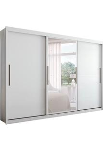 Guarda-Roupa Casal Com Espelho Taurus 3 Pt 4 Gv Branco