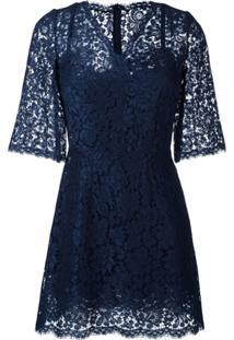 Dolce & Gabbana Vestido De Renda - Azul