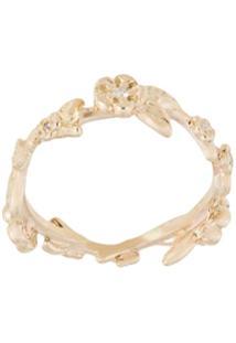 Meadowlark Anel Alba Vine Com Diamante - Dourado