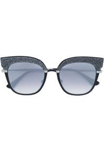 R  3200,00. Farfetch Óculos De Sol Feminino De Sol Jimmy Choo Haste Preto   Rosy  - Eyewear cee687dd4f