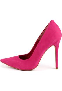 Scarpin Paula Brazil Casual Alto Couro Pink