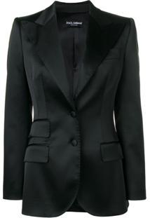 Dolce & Gabbana Blazer Com Abotoamento Simples - Preto