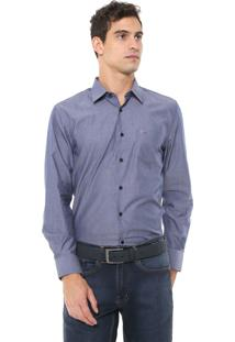 Camisa Aramis Reta Listras Azul