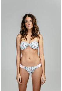 Tomara Que Caia Nanui Swim Compose Lauren - Feminino-Branco+Rosa