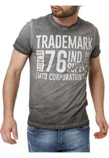 Camiseta Manga Curta Masculina Cinza