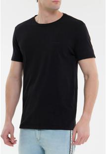Camiseta Ckj Mc Básica - Preto - Pp