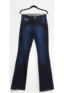 Calça Jeans Flare Xtra Charmy Plus Size Feminino - Feminino