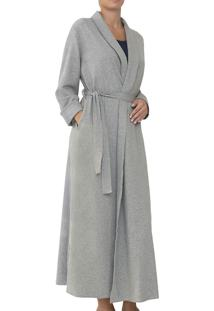 Cardigan Longo Felpado Liz Loungewear (23460) 100% Algodão Pima Peruano