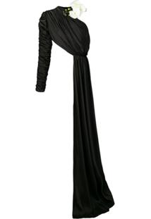 Seen Users One-Shoulder Draped Blouse - Preto