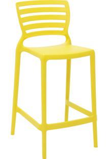 Cadeira Alta Tramontina 92127000 Sofia Monobloco Encosto Vazado Amarelo