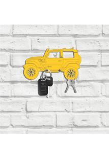 Porta Chaves Carro Troller Amarelo Único