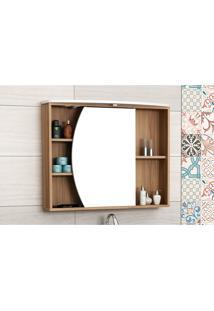 Armário Para Banheiro Duna Nogal/Branco Bosi