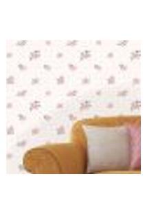 Papel De Parede Autocolante Rolo 0,58 X 3M - Flores Bolinhas 288457175