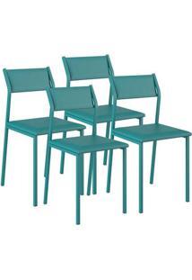 Cadeira 1709 Color Uv 04 Unidades Napa/Turquesa Carraro