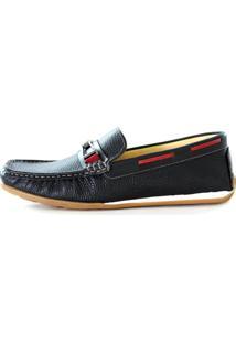 Mocassim Sapatotop Shoes Drive Preto