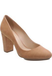 Sapato Tradicional Em Couro- Nude- Salto: 8Cmarezzo & Co.