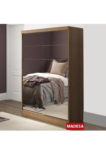 Guarda-Roupa 2 Portas Espelhadas Óregon Plus Rustic - Madesa