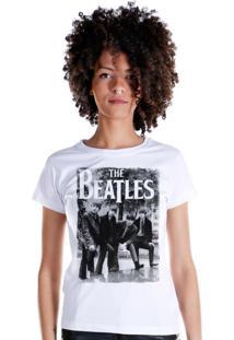 Camiseta Bandup Bandas The Beatles Hey Whats That Branco