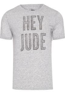 Camiseta Masculina Hey Jude - Cinza