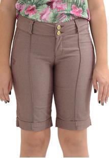 Bermuda Energia Fashion Marrom