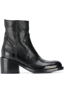 Officine Creative Ankle Boot Com Zíper Lateral - Preto