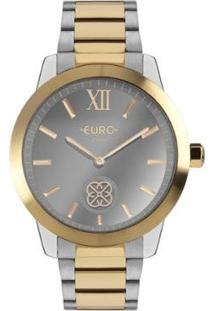 Relógio Euro Move Charm Bicolor Euvd Feminino - Feminino-Prata