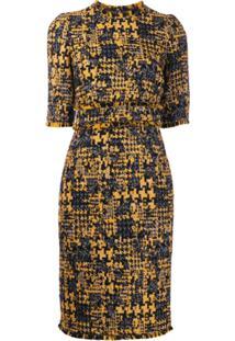 Dolce & Gabbana Vestido Lápis De Tweed - Amarelo