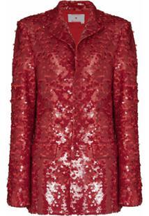 Anouki Blazer Catherine Com Paetês - Vermelho