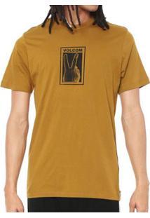 Camiseta Volcom Silk Slim Peace Masculina - Masculino