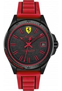 Relógio Scuderia Ferrari Masculino Borracha Vermelha - 830424