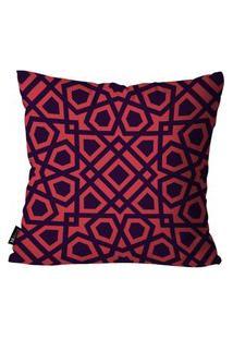 Capa Para Almofada Mdecore Abstrato Vermelho 35X35Cm