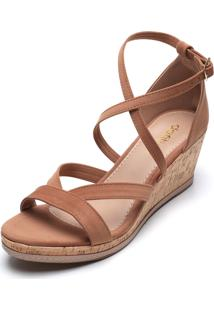 Sandália Dafiti Shoes Cortiça Marrom
