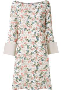 Gloria Coelho Vestido Estampa Floral - Neutro