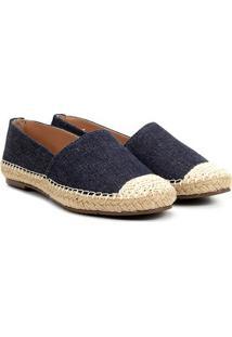 Alpargata Via Uno Jeans Corda Feminina - Feminino-Azul Claro
