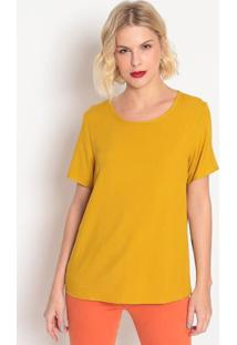 Blusa Lisa- Amarelo Escuro- Forumforum