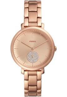 Relógio Fossil Jacqueline Feminino - Feminino-Rose Gold