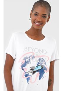 Camiseta Enfim Beyond The World Branca - Kanui