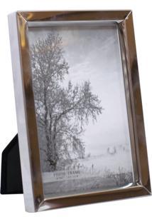 Porta Retrato Minas De Presentes Alumínio 1 Foto 10X15Cm Prata - Kanui