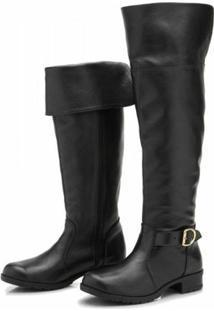 Bota Atron Shoes Over Knee - Feminino-Preto