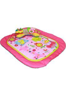 Tapete Com Almofada Animais- Pink & Verde Limã£O- 6X4Dican