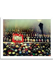 Quadro Decorativo The Legendary Duff Beer Branco - Grande