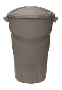 Lixeira Redonda 25 Litros Com Tampa Cinza Paramount Plásticos