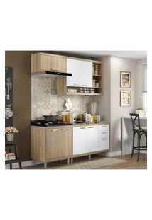 Cozinha Compacta Completa Multimóveis Com 4 Peças Sicília 5810 Argila/Branco