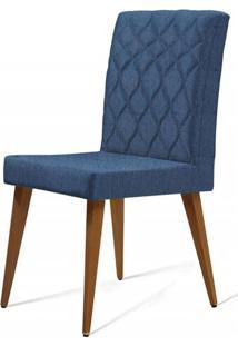 Cadeira Ouros Azul Base Castanho - 50475 - Sun House