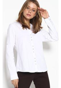 Camisa Lisa Com Botãµes - Brancascalon